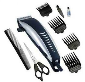 Branded Electric Hair Trimmer Clipper Beard Shaver With 4 Attachment