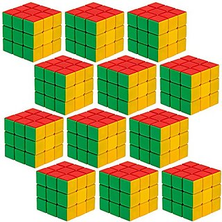 12 Piece Party Pack of 3 x 3 Puzzle Cubes Engineered for Speed Solving by Brybelly