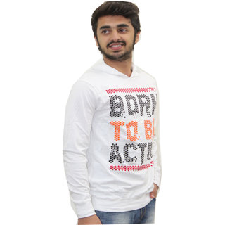 Born to be actor full sleeves White Tshirt