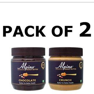 Alpino Peanut Butter Crunch + Chocolate 340 gm Pack of 2