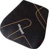Elegant Memory Foam Slim Back Cushion Pillow Black For Skoda Rapid (Pack of 1 Pc)