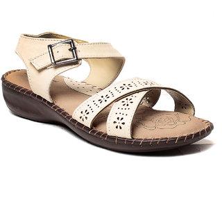 MSC Women's Cream Sandals