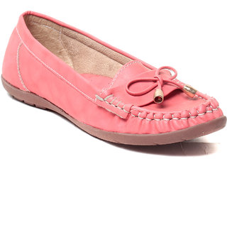 MSC Womens Pink Loafers