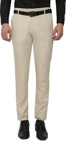 Gwalior Beige Slim Fit Formal Trouser For Men's