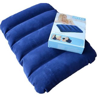 Intex Solid Air Pillow  (Blue)