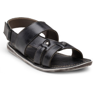 Adreno Dallas Black Mens Sandels
