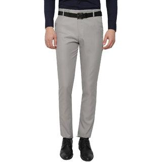 Gwalior Light Grey Slim Fit Formal Trouser For Men's