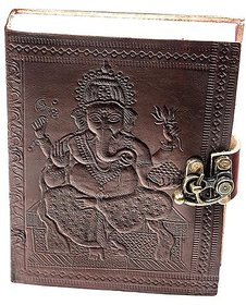 ININDIA  Pure Genuine Real Vintage Leather Handmadepaper Notebook Diary - Brown Size of 6X4.5