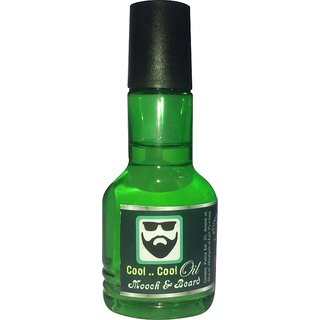 Mooch  Beard Growth Cool Cool Oil For All Hair Types (No of units 1)