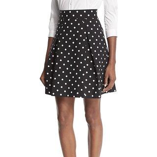 Rimsha Black and white polka dot mini skirt