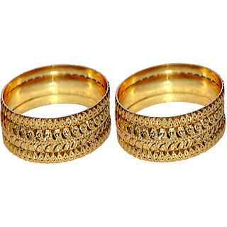 BRS Fashions Ladies Golden Choodi (Bangles)