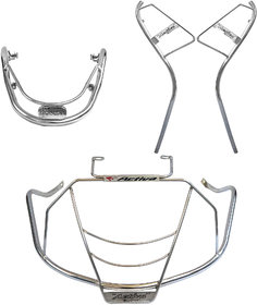Ride Smart Honda Activa 4G Safety Guards Corrosion Resistant Stainless Steel Frame Easy Do-it-yourself set up