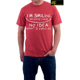 Ask For Fashion Round Neck Jxm015  T-shirt (red)