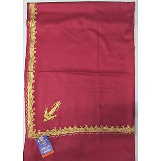 Red colour shawl with tilla work as shown from kashmir