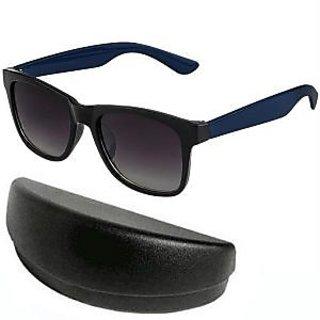 Black With Blue Wayfarer Sunglasses