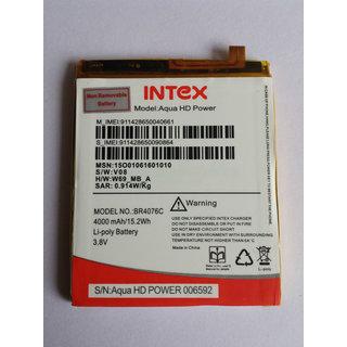 Intex Aqua Power/ Power HD Original Li Ion Polymer Internal Replacement Battery BR4076C 4000mAh
