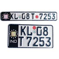 bike number plate germen font colour black
