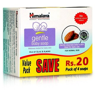 Himalaya Gentle Baby Soap Value Pack (4 N x 75 g)