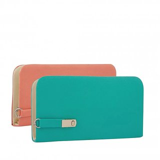 Clementine Women's Combo Of 2 Clutches(Multicolor,Magnet-Pg)