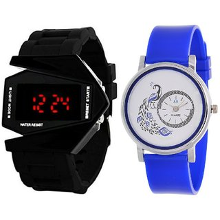 Designer Analog And Digital Watch Combo For Girls And Boys