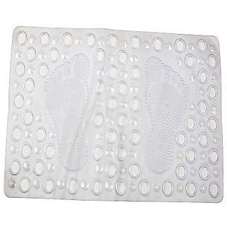 Winner Large Bath Mat Non Slip Rectangular White Color PVC Bathroom Rugs (70 L CM x 38 W CM), 30005208