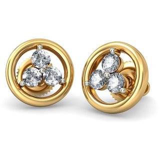 The Triani Earrings_Diamond Earring In 18KT Yellow Gold