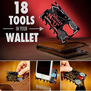 18 in 1 Wallet Ninja Multi Tool Kit In Credit Card Size