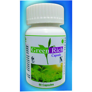 Hawaiian Herbal, Hawaii,USA -  GREEN RICH CAPSULES - 60 Capsules (Buy any Healthcare Supplement  Get the Same Drops Free)