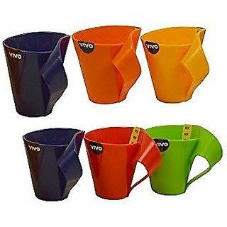 Vivo Plastic Coffee Mug 6 Pcs 190 ml Buy Online at Best Price in Indi