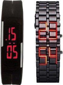 fast selling LED-band-chain-combo Digital Watch - For Boys, Men, Girls, Women