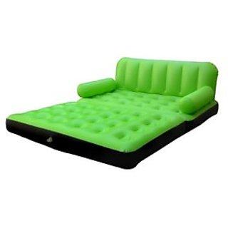 5 In 1 Air Sofa Bed Non Velvet Pvc Green Recliner
