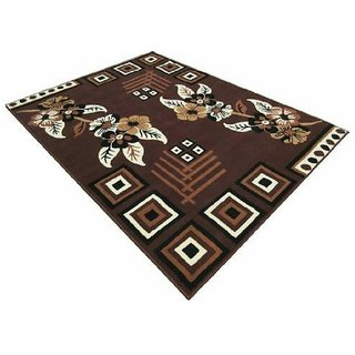 Home Elite Ethnic Velvet Touch Abstract Chenille Carpet