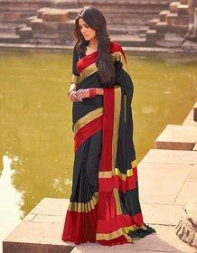 Aura Multicolor Art Silk Self Design Saree With Blouse