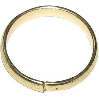 Real Black Horse Shoe Iron Ring (Kale Ghode ki Naal Ki Ring ) Gold Colour Polish Adjustable Ring - A1144-04
