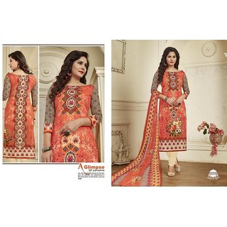 ead8e7697d Buy Cotton dress material with chiffon dupatta (Unstitched) Online ...