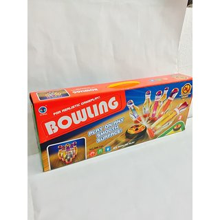 Foot bowling set with LED lights