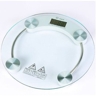 Digital 8mm Tempered Glass Personel Bathroom Weighing Scale upto 180 Kg