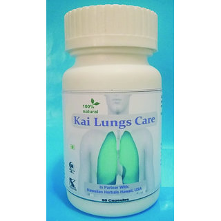 Hawaiian Herbal, Hawaii,USA -  LUNGS CARE CAPSULES - 60 Capsules (Buy any Healthcare Supplement  Get the Same Drops Free)