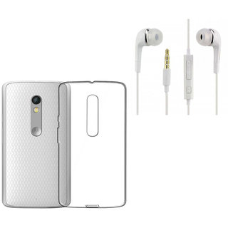new concept 17cd4 58bfe Sureness Back Cover For Motorola Moto X Play With YR Headphone (Transparent)