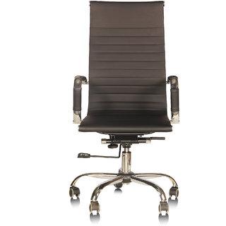 Silver Arrow Black Metal Adjustable Seat Height Chair