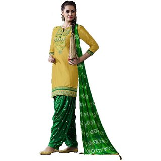 Punjabi Thread Work Suit With Dupatta (Unstitched)