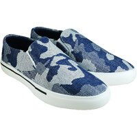 Howdy Blue Canvas Slip On Shoes For Men  Boys