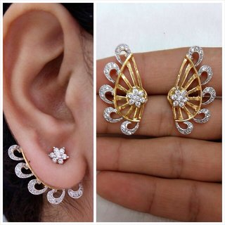 Trendy Earing Cuff Ad Stone