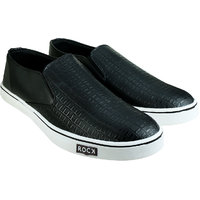 Howdy Black Canvas Slip On Shoes For Men  Boys