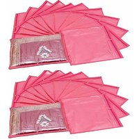 Fashion Bizz Regular Pink Saree Bags   24 Pcs Combo
