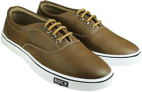 Howdy Brown Canvas Shoes For Men  Boys