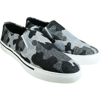 Howdy Black Canvas Slip On Shoes For Men  Boys