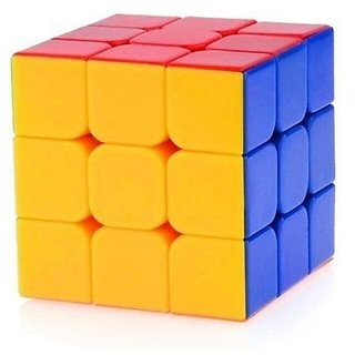 Rubiks Cube 3x3x3 Puzzle Extra Smooth - High Speed Sticker less
