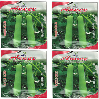 Bottle Gourd / Ghiya/ lauki Vegetable seeds pack of 4