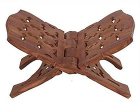 Craftgasmic Wooden Hand Carved Holy Book Stand 12inch